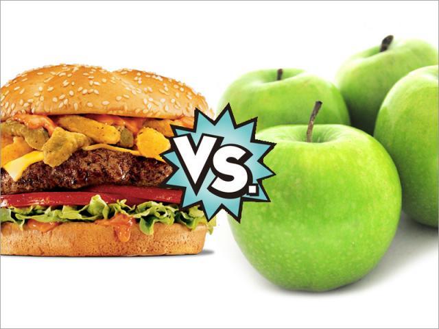 Resultado de imagen para comida chatarra vs comida saludable